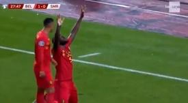 Lukaku sigue haciendo historia con Bélgica. Captura/laune