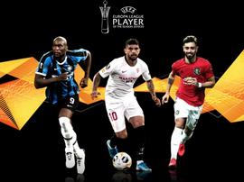 Os candidatos a melhor jogador da Liga Europa 2019-20. UEFA