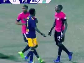 Romeo Parkes, en un partido con el Pittsburgh Riverhounds. Youtube