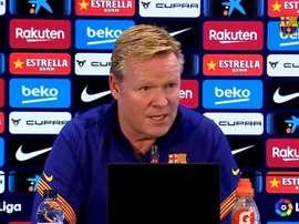 Koeman parla in conferenza stampa. FCBarcelona