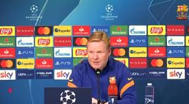Ronald Koeman analizó el Juventus-Barcelona. Captura/BarçaTV