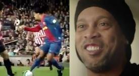 Ronaldinho prepara una película. Capturas/Twitter/10Ronaldinho