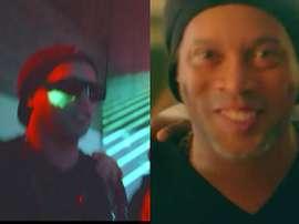 Ronaldinho apparaît bien entouré dans un clip de rap. Capturas/Youtube/Recayd Mob