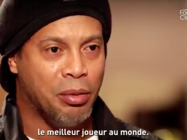 Ronaldinho thinks Mbappe is the best upcoming player. Twitter/CanalFootClub