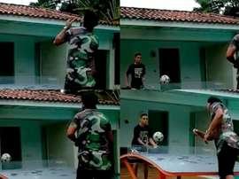 Deporte en familia entre Ronaldinho y su hijo. Instagram @10Ronaldinho
