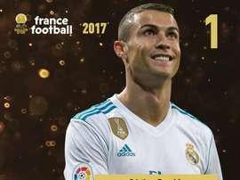 Ronaldo eleito o melhor futebolista do mundo. FranceFootball