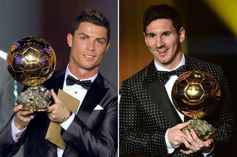 Dos genios comparados con otro. AFP