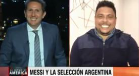 Ronaldo fue entrevistado por la 'CNN' sobre la Copa América. Captura/CNN