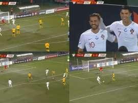 Et pendant ce temps-là, Cristiano claque un quadruplé en Lituanie. Capture/SkySports