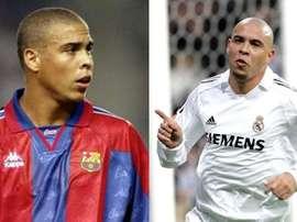 Ronaldo Nazário, marcou época no Barcelona e no Real Madrid. Barcelona/RealMadrid