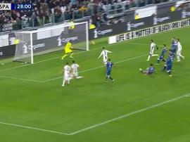 Ronaldo put Juventus into the lead. Captura/Movistar