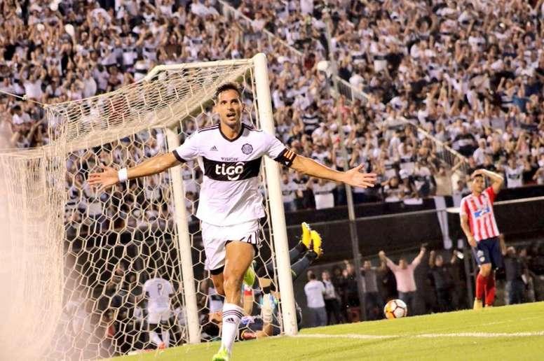 Roque, protagonista ante Deportivo Capiatá. Olimpia