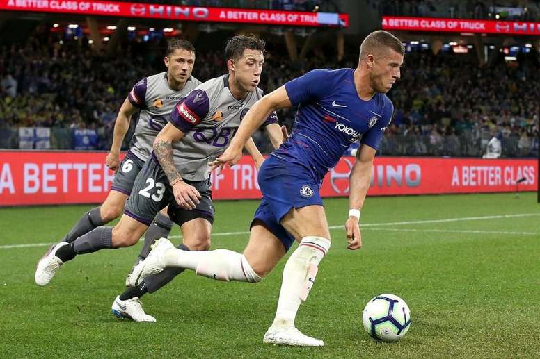 Barkley in action during pre-season. Twitter/ChelseaFC