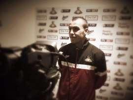 Rowe en su presentación con el Doncaster Rovers. Doncasterrover