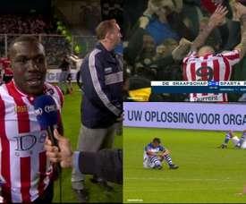 Remontada épica del Sparta de Rotterdam de Drenthe para ascender a la Eredivisie. Captura/FOX