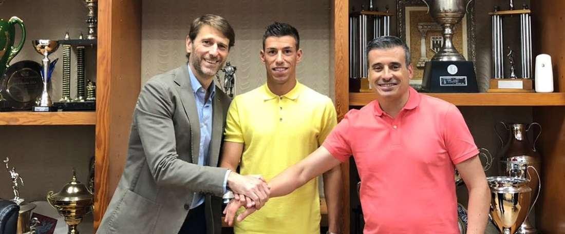 Rubén Alcaraz a signé à Valladolid. Twitter/realvalladolid