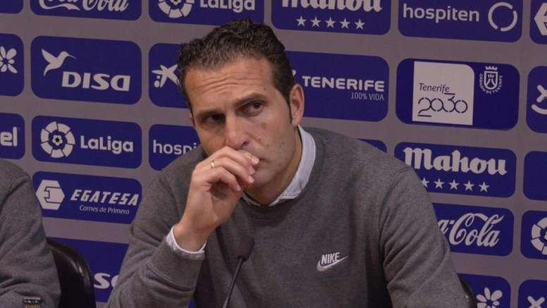 Baraja, nuevo técnico del Tenerife. Twitter/RealSporting