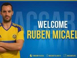 Rubén Macael. presentado en Tel-Aviv. Maccabi