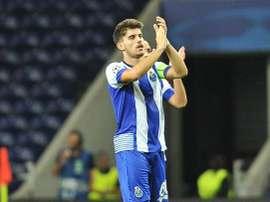 Ruben Neves abrió el marcador en la victoria del Oporto en la ida de la Taça de Portugal. Twitter.