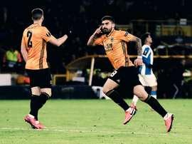 Los Wolves endosaron un duro 4-0 al Espanyol. Twitter/Wolves