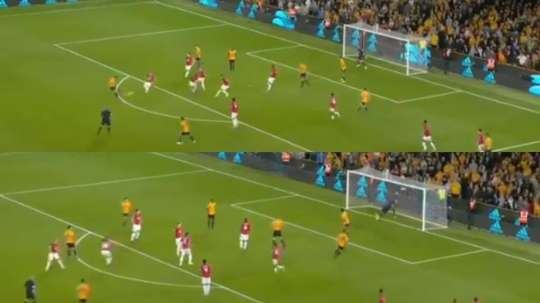Ruben Neves scored a fantastic goal from outside the box to draw Wolves level. Captura/BTSports