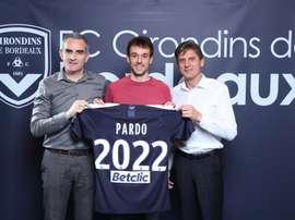 Ruben Pardo s'engage jusqu'en 2022 avec les Marine et Blanc. Twitter/@girondins