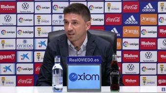 Rubén Reyes mostró su satisfacción con el mercado de fichajes del Oviedo. Captura/RealOviedo