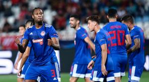 Rúben Semedo faz gol na Champions. OlympiacosFC