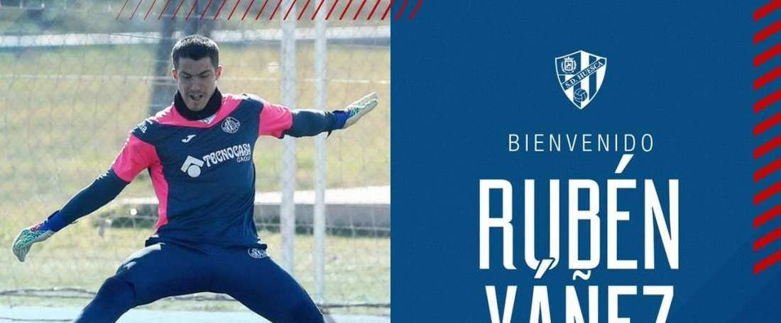 Rubbén Yañez jouera en prêt à Huesca. Twitter/Huesca