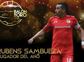 Sambueza, joueur de l'année. LigaBancomerMX