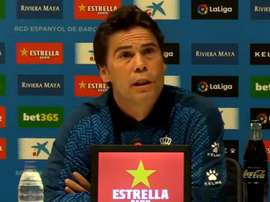 Rubi during the press conference. Captura/RCDEspanyol