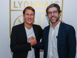 Rudi Garcia é o novo treinador do Lyon. Twitter/OL