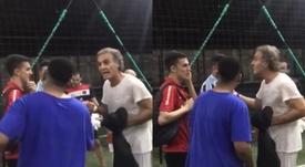 Ruggeri bromeó con un grupo de brasileños uno de los capítulos más tristes de Brasil. Captura/FOX