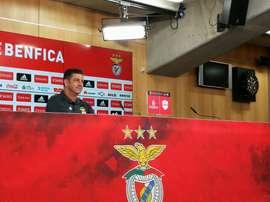 O treinador do Benfica pretende sair da Mata Real com os 3 pontos. Twitter/slbenfica