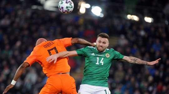 Irlanda del Norte llegó a fallar un penalti en la primera mitad. EFE
