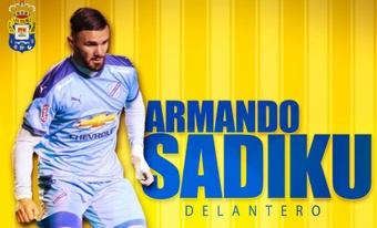 Sadiku reforzará la delantera de Las Palmas la próxima temporada. Twitter/UDLP_Oficial