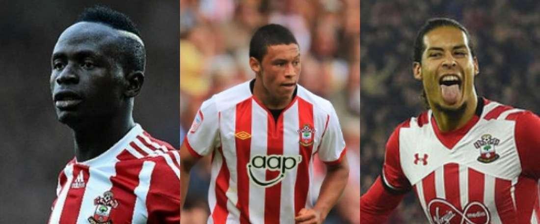 Les 9 ex-joueurs de Southampton en finale de Champions League. Montaje/AFP