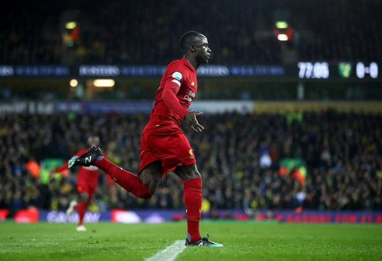Sadio Mane scored the winner for Liverpool against Norwich. AFP