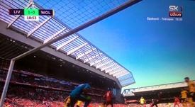 Mané makes it 1-0 to Liverpool. Captura/SK1