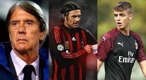 Daniel Maldini é a terceira geração da família no Milan. Montaje/EFE/AFP/Milan