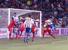 Sagal marcó el primer gol del partido. Captura/FoxSports