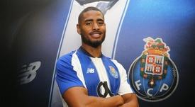 Saidy Janko é apresentado como novo reforço do FC Porto para a temporada 2018-19. Twitter/FCP