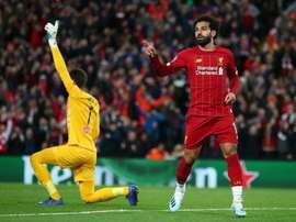 Salah incertain avant le choc contre Manchester United. Twitter/@LFC