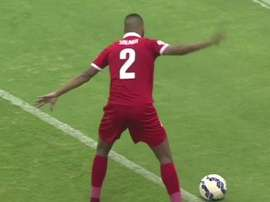 Salmeen Khamis was waiting for the ball to cross the line. Twitter