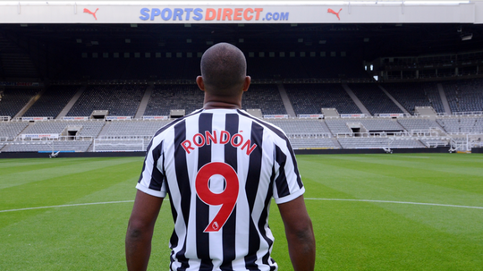 Rondon moved to St James Park on loan this summer. Twitter/NUFC