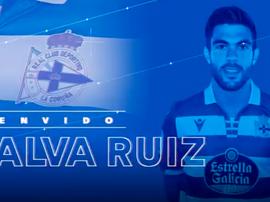 Salva Ruiz ya es del Deportivo. Twitter/RCDeportivo