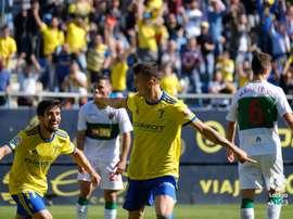 Salvi marcó el cuarto del Cádiz. LaLiga