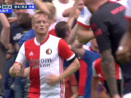 Larsson sauve le Feyenoord 'in extremis'. Capture/FoxSports