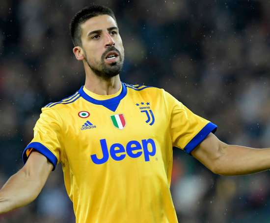 'Hat trick' de Khedira con la Juventus en el 2-6 al Udinese. AFP