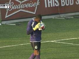 Sammy N'Djock marque un but humiliant contre son camp. AFP